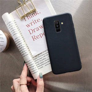 candy color silicone mobile phone case on for samsung galaxy a8 a6 plus j8 j6 j4 plus j2 core 2018 soft tpu back cover coque