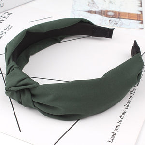 Fashion Women Bow Knot Turban Hairband Women Hair Head Band Hoop Accessories Simple Sweet Girls Hair Hairband Headband