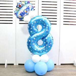 Digital Balloon Cartoon Inflatable Children Birthday Party Layout Decoration Party Hat Column Balloon 32-inch