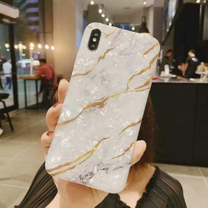Glitter Marble Case For iphone 7 XR XS MAX Case Soft TPU Back Cover For iphone 6 6S 7 8 Plus iphone X XR Case Cover Phone Case