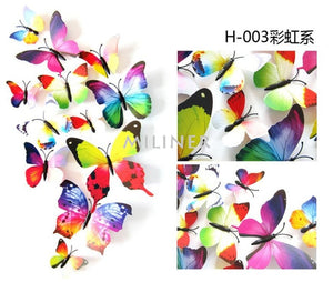 3D Butterfly Wall Stickers For Kids Room Decor