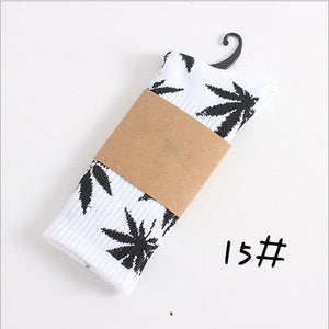 Winter high Quality Harajuku chaussette Style Weed Socks For Women