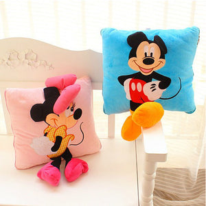 Creative 3D Mickey Mouse and Minnie Mouse Plush Pillow