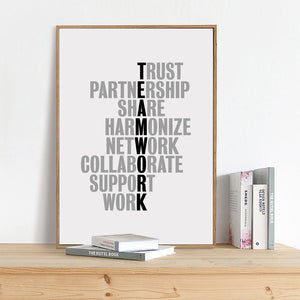 TeamWork Motivational Quotes Canvas Art Office Poster