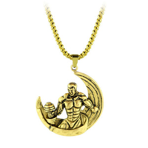 Silver Strong Man Bodybuilding Necklace Antique Silver Fitness Jewelry Necklace for Men Jewelry Dumbbell Pendant Gym Necklaces
