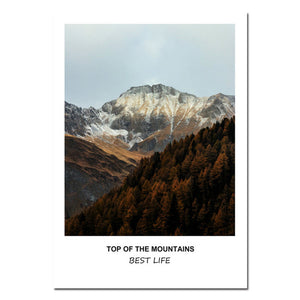 NICOLESHENTING Mountains Landscape Life Quote Canvas Art Posters