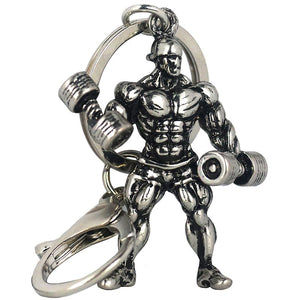 Stainless Steel Fitness Man Sports Dumbbell Casual Keyring