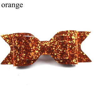 Adorable Glitter Hair Bow Hairpins for Baby Girl
