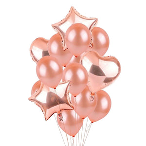 10 PCS Round Helium Balloons with foil for Party Wedding