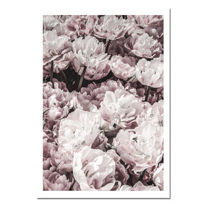 NICOLESHENTING Motivational Flower Feather Wall Canvas Art