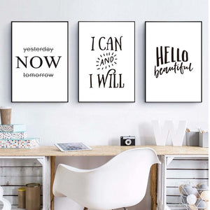 Minimalist Typography Wall Decor Motivational Quotes Posters