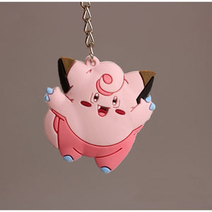 Beautiful 3D Anime Pokemon Go Key Rings