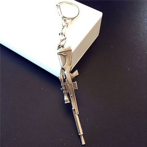 With Gift Box Simulation Weapon Model Keychain Male Mini M4A1 AK47 Gun Key Chain Car Keyring AWP Rifle Sniper Cool Mens Jewelry