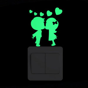 Cartoon Glowing Wall Sticker For Dark Kids Room Decoration