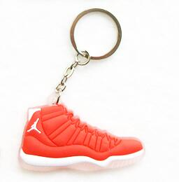 Charming Mini Silicone Jordan Sneaker Key Chain