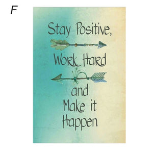 Stay Positive Work Hard Inspirational Quotes Wall Frame Poster