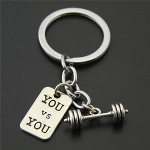 Charm Sports Barbell Dumbbell Crossfit Keyring For Man
