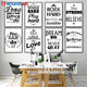 Black White Motivational Life Dream Quote Wall Art