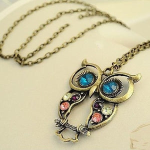 Hot Cute Owl Pendant Necklace For Womens Fashion Jewelry