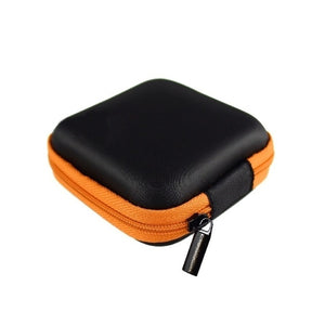 Square Earphone Wire Organizer Box Data Line Cables Storage Box Case Container Coin Headphone Protective Box 8cm