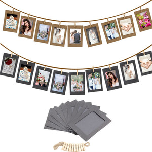 10 Pcs Combination Paper Hanging Wall Photo Frame with Clips