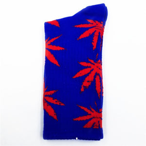 Fashion 1Pair Comfortable High Quality Cotton Socks Marijuana Leaf Maple Leaf Casual Long Weed Crew Sock Autumn Winter