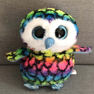 "Ty Beanie Boos 6"" 15cm Owlette the Gray Owl Plush Regular Soft Big-eyed Stuffed Animal Bird Collection Doll Toy"