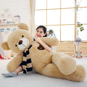 Kawaii Large Soft Teddy Bears With Scarf For Kids