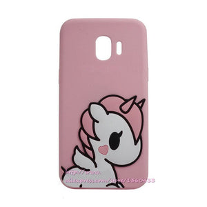 For Samsung Galaxy J2 Pro 2018 Case 3D Cartoon Minnie unicorn Silicone Cover Case For Coque Samsung J2 Pro 2018 J250F phone capa