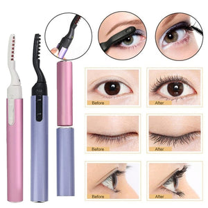 Mini Electric Heated Eyelash Curler Pen Perm Long Lasting Eye lash Curler Makeup Curling Kit Big Eyes Remover Clip Eyebrow
