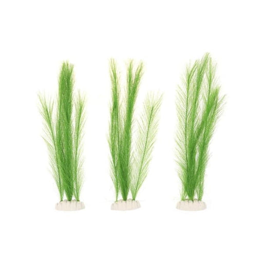 3Pcs Aquarium Decorations Ornament Fish Tank Artificial Plastic Green Water Plants - Decorations