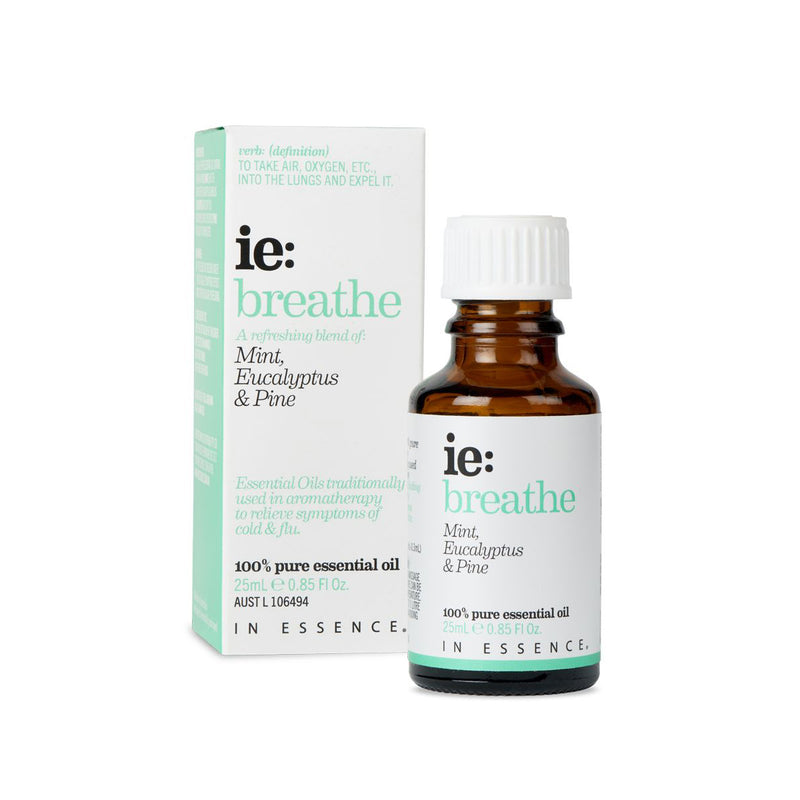 In Essence Breathe Pure Essential OIl Blend 25ml with carton
