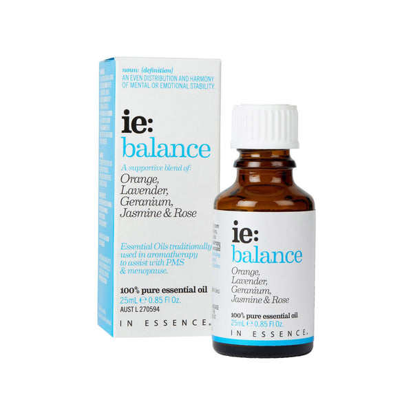 In Essence Balance Pure Essential OIl Blend 25ml with carton