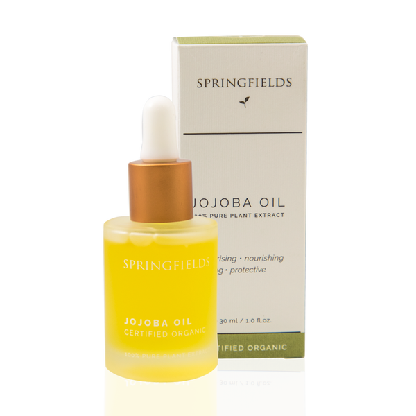 Springfields Jojoba Oil Certified Organic 30ml with carton