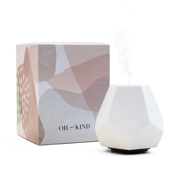 Geo Design Diffuser - White Ceramic