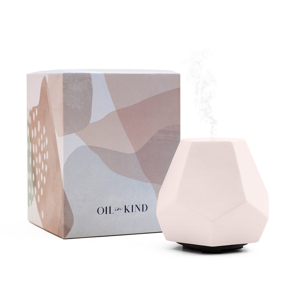 Blush Ceramic Geo Design Diffuser with Carton