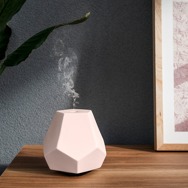 Blush Ceramic Geo Design Diffuser Display