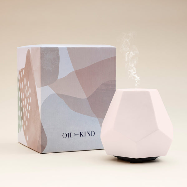 Geo Design Diffuser -  Blush Ceramic *Limited Edition*