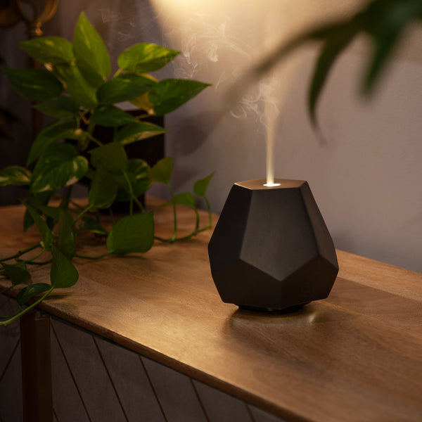Charcoal Ceramic Geo Design Diffuser Display