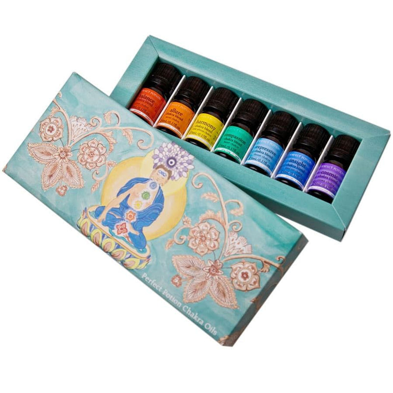 Perfect Potion Chakra Essential Oil Blends Kit Packaging Box