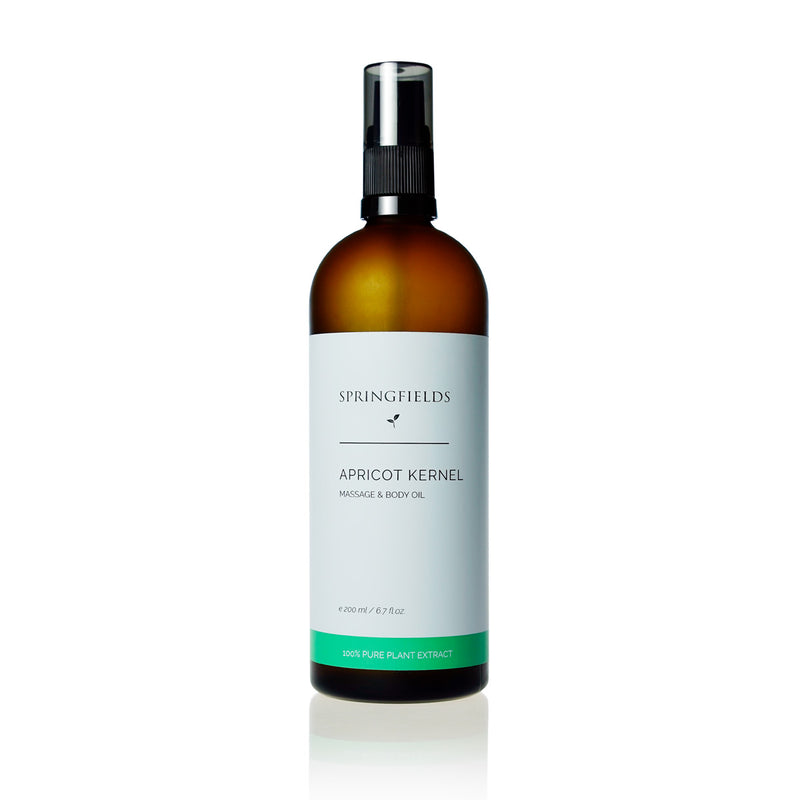 Springfields Apricot Kernel Massage and Body Oil 200ml