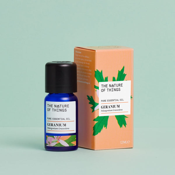 The Nature of Things Geranium Pure Essential Oil 12ml Carton