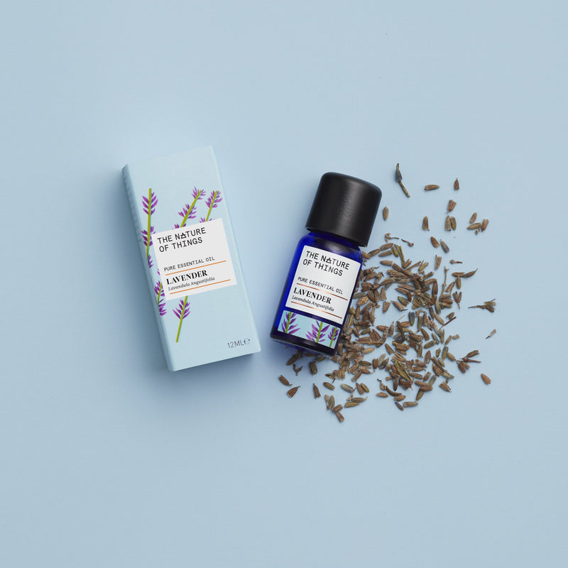 The Nature of Things French Lavender Pure Essential Oil 12ml with carton and ingredients