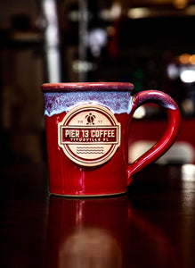 Pier 13 Coffee Hand Made Ceramic Mug - 12oz