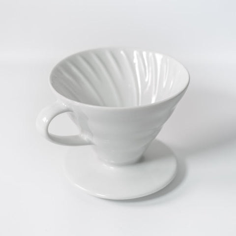 V60 Ceramic Coffee Dripper, White
