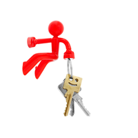 Magno-Man Magnetic Keyring Holder - Red [FREE DELIVERY AUSTRALIA-WIDE; 7-10 DAYS]