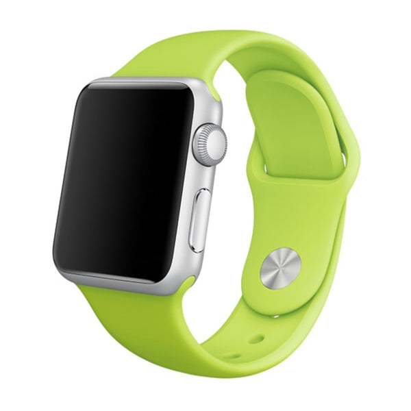 Soft Silicone Sport Style Replacement iWatch Strap Band-Green colour; For Apple Wrist Smart Watch 42mm. [FREE DELIVERY AUSTRALIA-WIDE; 7-10 DAYS]