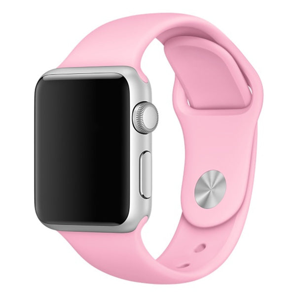 Soft Silicone Sport Style Replacement iWatch Strap Band-Pink colour; For Apple Wrist Smart Watch 38mm. [FREE DELIVERY AUSTRALIA-WIDE; 7-10 DAYS]