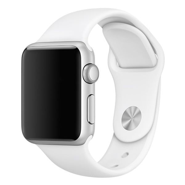 Soft Silicone Sport Style Replacement iWatch Strap Band-White colour; For Apple Wrist Smart Watch 42mm. [FREE DELIVERY AUSTRALIA-WIDE; 7-10 DAYS]