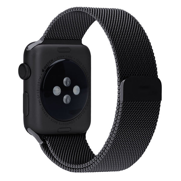 Apple Watch Band- Black Colour;  Magnetic Closure Clasp Mesh Loop; Stainless Steel Bracelet Strap for Apple iWatch Sport & Edition 42mm [FREE DELIVERY AUSTRALIA-WIDE; 7-11 DAYS]